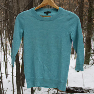 Merino wool 3/4 sleeve sweater
